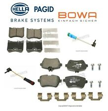 For Mercedes W222 C217 Maybach S550e Front & Rear Brake Pad Set & Sensors Hella