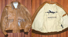 AMAZING MENS MEMBERS ONLY BOMBER DISTRESSED LEATHER FLIGHT STYLE JACKET SIZE 42