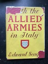 With the Allied Armies in Italy Edward Seago 1945 Collins UK edition HBK DW