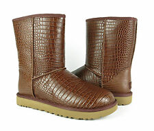 UGG Australia Classic Short Croco Spice Brown Boots Womens 11 *NEW IN BOX*