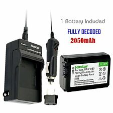 FW50 Battery & Regular Charger for Sony NEX-3, 3N, 5, 5N, 5R, 5T, 6, 7, C3, F3