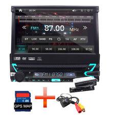 "Single 1 Din 7"" Écran tactile Car DVD Player GPS Autoradio BT AM/FM Stéréo RDS"