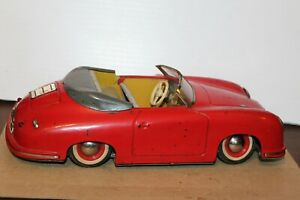 VINTAGE 1950's  DISTLER ELECTROMATIC 7500 BATTERY OPERATED PORSCHE ROADSTER