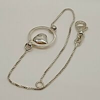"""Solid Sterling Silver 925 bracelet chain 7""""  design jewellery box chain P63"""