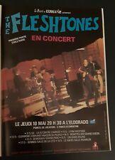 Publicité advert advertising concert album THE FLESHTONES 1984 tournée Française