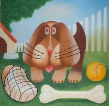 JG AGA 204 Puppy Dog with Toys HP Handpainted Needlepoint Canvas