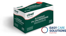 More details for clinell 70 % alcoholic 2% chlorhexidine wipes - pack of 240 sachets