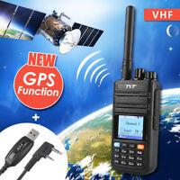 TYT MD-380G GPS DMR VHF Handheld Walkie Talkie Two-way Radio + Free USB Cable