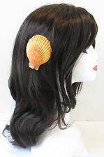 Véritable coquille de mer orange Cheveux Clip Mermaid Beach Costume Robe Fantaisie Halloween T47
