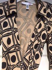 DVF Diane von Furstenberg Vintage Black & Tan Silk Jeanne Wrap Dress Size 6