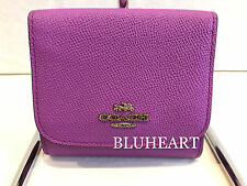 NWT! Coach Small Orchid Crossgrain Leahter Wallet 53716