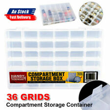 Storage Box Plastic Jewelry Organizer 10-36Compartment Case Container Bead Craft