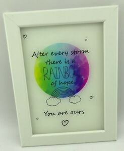 Rainbow Baby Framed Gift  After Every Storm There Is A Rainbow Of Hope