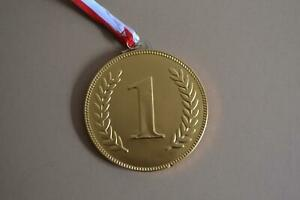 Novelty Milk Chocolate No.1 Medal with Ribbon 100mm, 58g