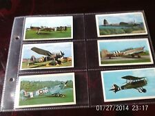 doncella cigarette cards golden age of flying, numbers 18, 19, 21, 23,24,5,18,19