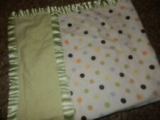 30x30 Just Born Polka Dot Flannel Satin Baby Crib Lovey Security Blanket