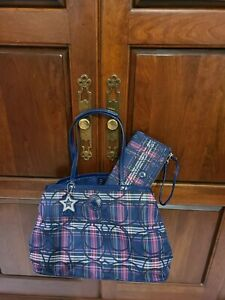Coach Signature Stripe Tartan Carryall Bag & Wallet F20011 will not be relisted