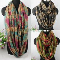 Fashion Women's Colorful Staining Graffiti Ladies Soft Long/Infinity Scarf New