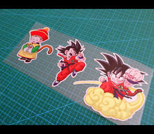 3 Pics Kid Goku DRAGON BALL JDM CAR / NOTEBOOK Reflective Decal Sticker #003