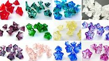 12 (mm) LARGE CZECH PRESSED GLASS TRUMPET CUP BELL FLOWER ANGEL SKIRTS BEADS