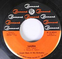 50'S & 60'S 45 Count Basie & His Orchestra - Laura / Secret Love On Command