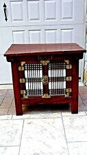 ANTIQUE 19c KOREAN TANSU TWO DOOR CHEST WITH LIFT TOP,CHOSON DYNASTY
