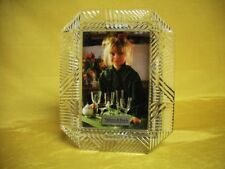 New Villeroy & Boch Cut Crystal Glass Easel Photo Pictuer Frame 3x5 Window Mint