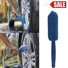 MICROFIBER CAR WHEEL Brush Detail Rim Wash Wand Soft Bristle Cleaning Sponge