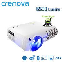 CRENOVA Projecteur vidéo pour Home Cinéma Full HD 4K * 2K avec 5G Android 6.0 OS