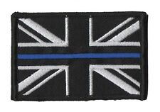 Thin Blue Line - Police - Union Jack Velcro backed patch UK Badge insignia small