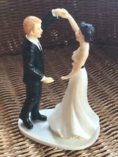 Dancing Wedding Party Groom Couple Figurine Resin Cake Topper Love