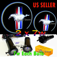 2x7w MUSTANG Ghost Shadow Projector Laser Logo LED Courtesy Door Step Lights