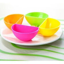 4Pc Kit de tazón de cocina Dip Clip Clip de platos pequeños para vinagre sal salsa de tomate