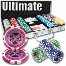 300ct. Ultimate 14g Poker Chip Set in Aluminum Metal Carry Case