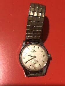 Vintage Swiss Made Bucherer Manual Wind 15 Jewels Wrist Watch