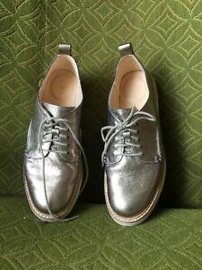 CLARKS Womens Stone Leather Trace Walk Classic Platform Brogues UK 5.5.