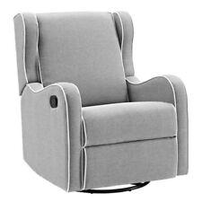 Glider Baby Rocker Rocking Chair Swivel Recliner Nursery Furniture Gray Seat New