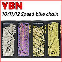 YBN bicycle chain 10/11/12 speed mountain road bike chains for Shimano/SRAM