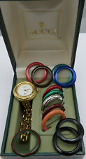 Gucci Quartz Ladies Watch with 12 Interchangeable Bezels and original box