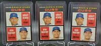 Nico Hoerner & Adbert Alzolay 2020 Topps Heritage Lot x3 Rookie RC Chicago Cubs