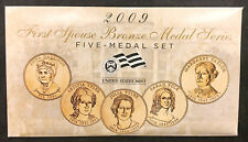 2009 First Spouse Bronze Medal Set -- Five Medals in Original Mint Packaging