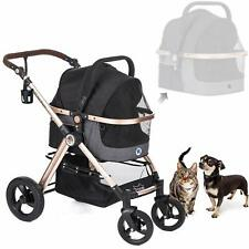 3-in-1 Luxury Dog/Cat/Pet Stroller (Travel Carrier + Car Seat +Stroller) with De