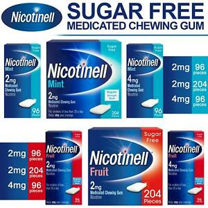 Nicotinell Nicotine Gum 2mg 4mg Medicated Chewing Gum Fruit Mint 96 204 Pieces