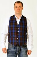 Rangers tartan waistcoat vest 4 Kilts SALE usually £79 SALE £34.99 all sizes
