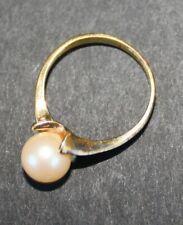 bague métal perle culture diamètre intérieur 1,8 cm