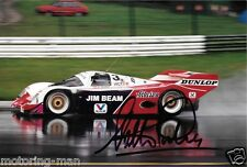 Walter LECHNER PORSCHE 962 fotografia Firmato Autografato Foto 1996