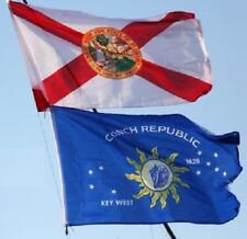 2x3 Key West and 2x3 Florida USA Flag House Banner Flags Lot Wholesale 2 Flags