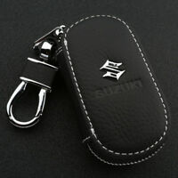 Leather Car logo Key Chain Case Remote Control Auto Keyfob wallet bag for suzuki