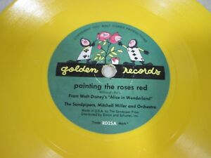 Vintage 1951 Disney 78 Golden Record Alice In Wonderland RD25