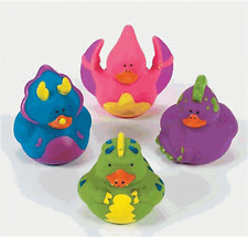 Dinosaur Rubber Duck Set of 4   **Free S/H when you buy 6 items from my store:-)
